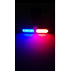 Luz LED trasera roja-azul USB